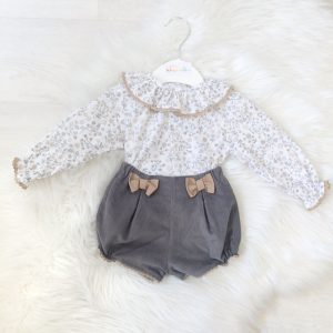 Baby Girls Grey & White Outfit