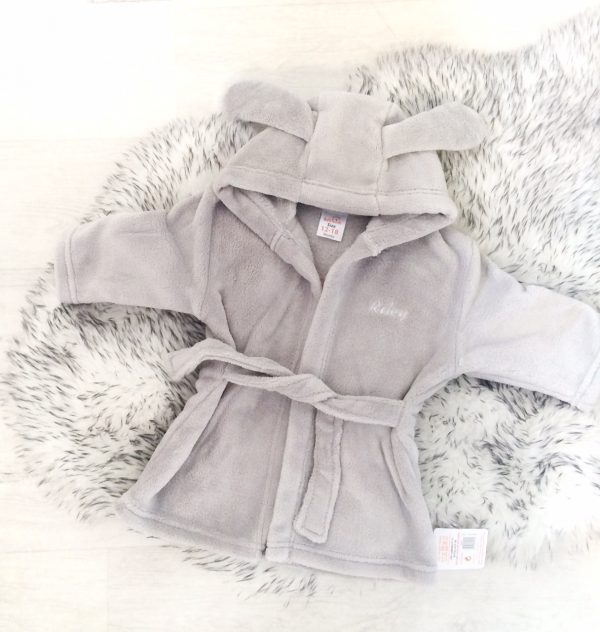 Grey Baby Dressing Gown