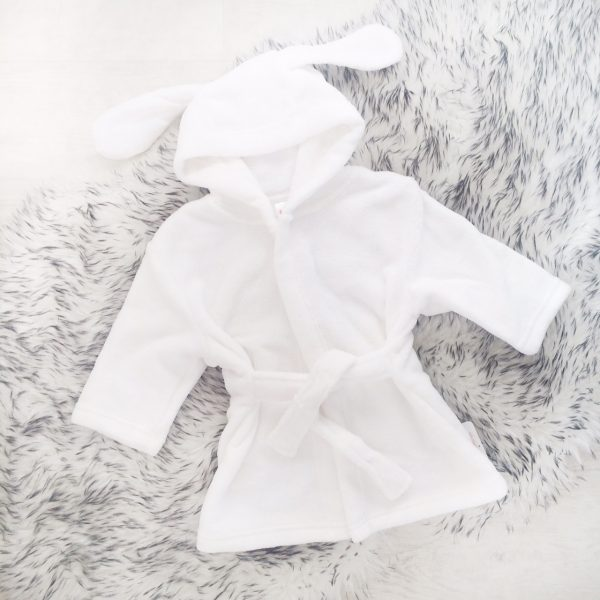 White Baby Dressing Gown