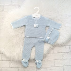 Baby Boys Blue Three Piece Set
