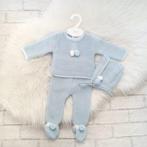 Baby Boys Blue Three Piece Set