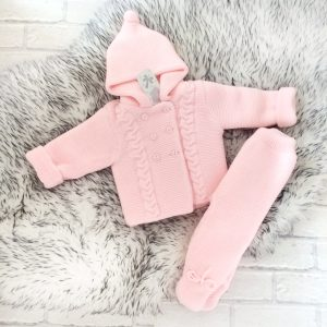 Baby Pink Jacket & Trouser Set