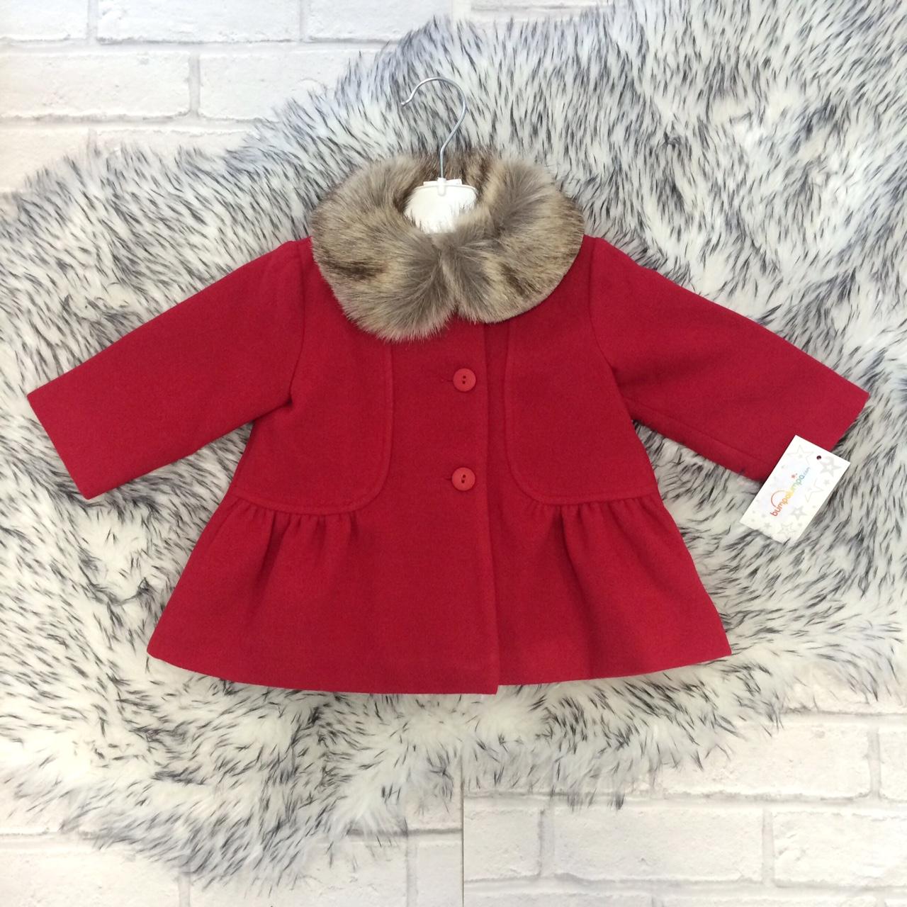 Baby Girls Red Coat