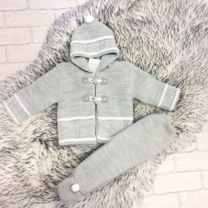 Grey Baby Cardigan & Trouser Set