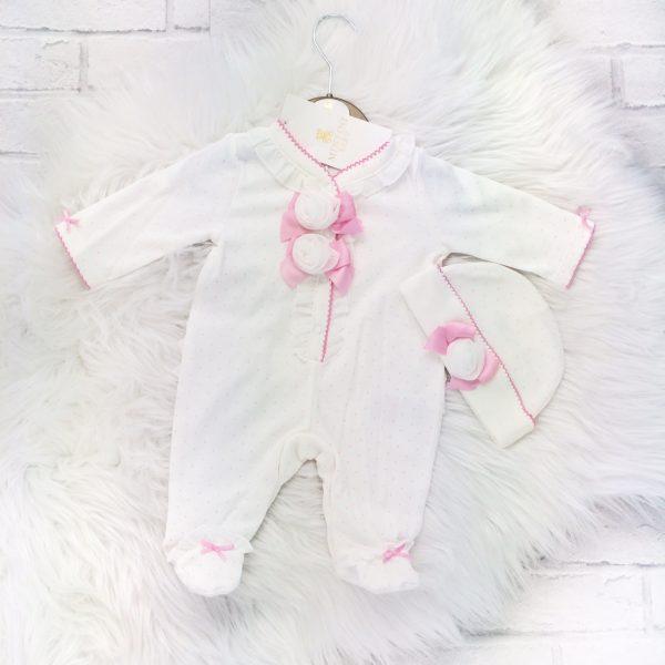 Mintini Baby Girls Ivory Babygrow Set