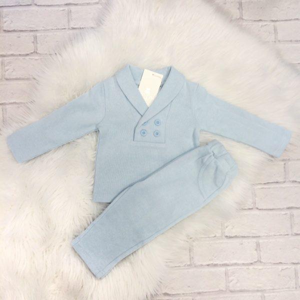 Mintini Baby Boys Blue Top & Trouser Set
