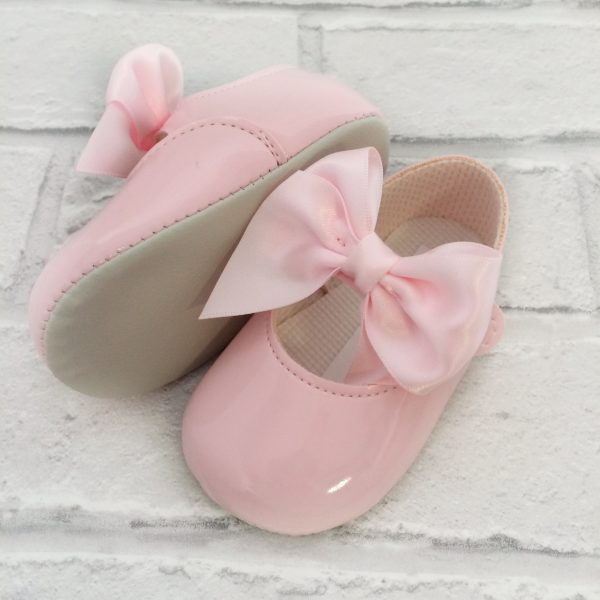 Baby Girls Pink Pram Shoes