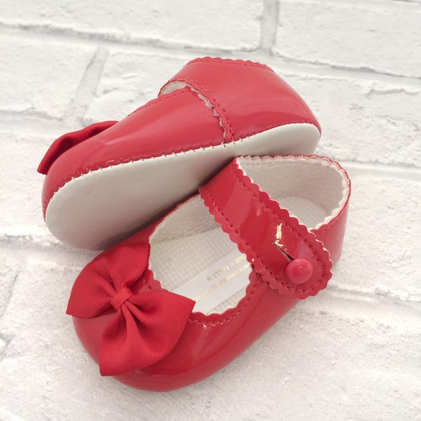 Baby Girls Red Pre-Walking Shoes