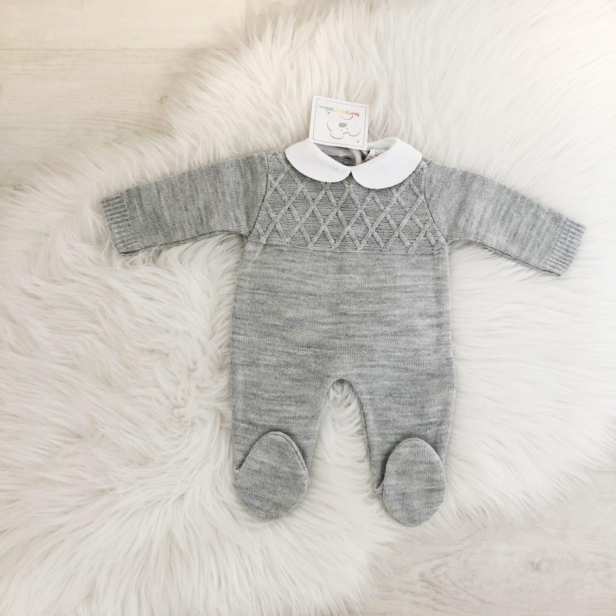 Baby Boys Grey Romper Suit