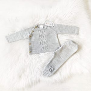 Unisex Grey Baby Outfit