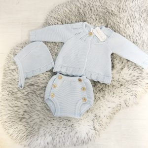 Baby Blue Knitted Outfit