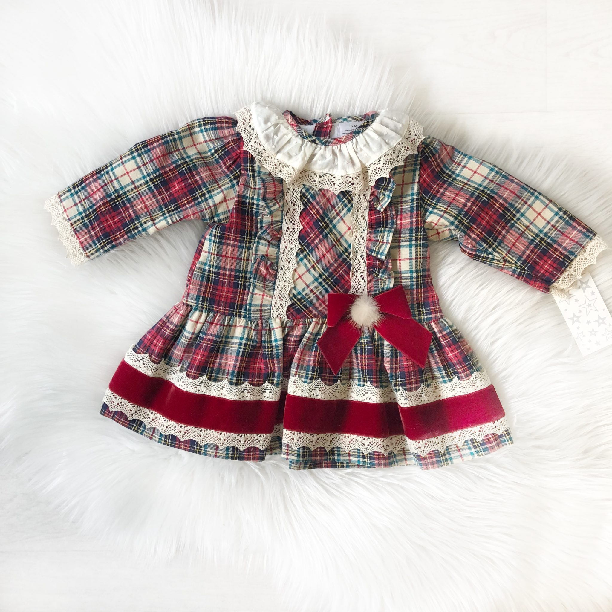 710231efb Baby Girls Christmas Dress | Baby Girls Tartan Dress | Bumpalumpa.com