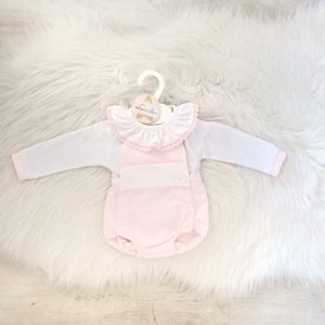 Baby Girls Pink Romper Outfit