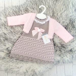 Pink & Grey Baby Dress