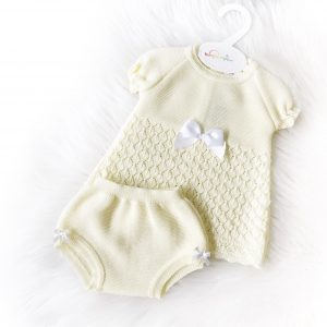 Baby Girls Yellow Knitted Baby Dress