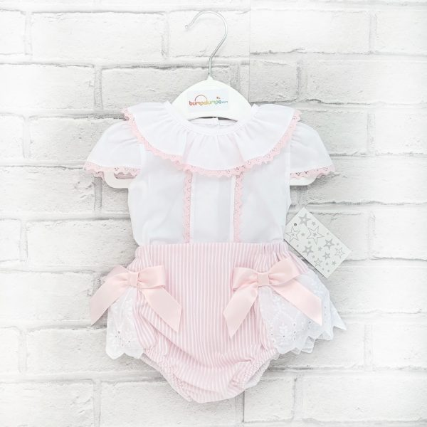 Baby Girls White Blouse & Pink Shorts