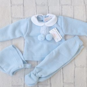 Blue Kitted Pram Suit