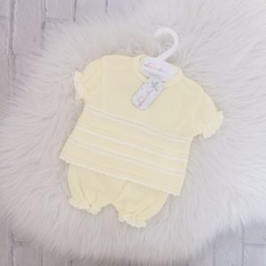 Baby Girls Lemon Top & Bloomers Outfit
