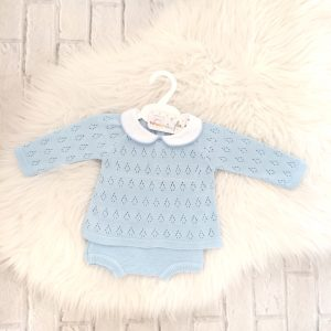 Baby Boys Blue Jumper & Shorts Set