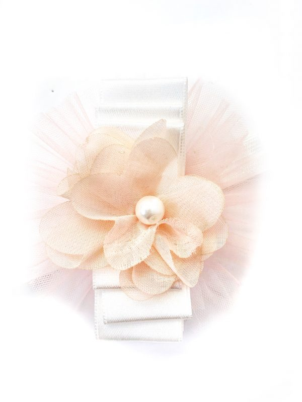Baby Girls Peach Flower Headband