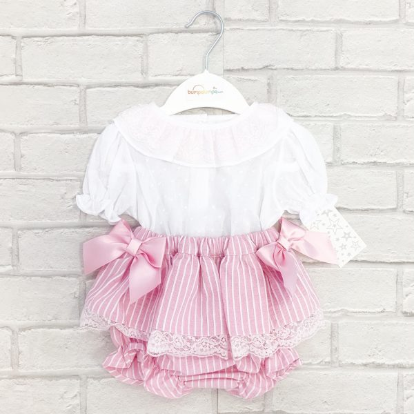 Baby Pink Stripe Outfit