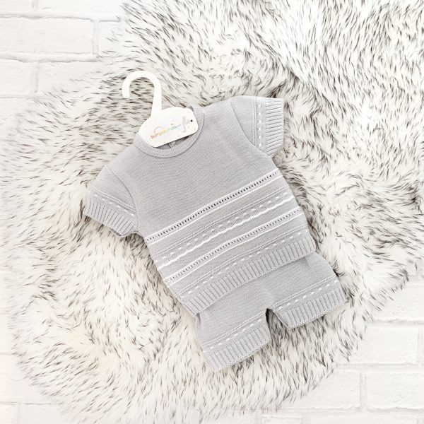 Grey Baby Top & Shorts Set