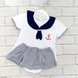 Baby Girls Sailor Top & Skirt Set