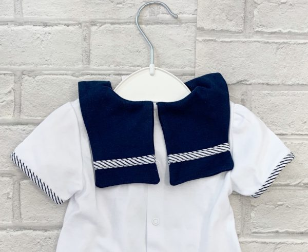 Baby Girls Sailor Top & Skirt Set Back Image