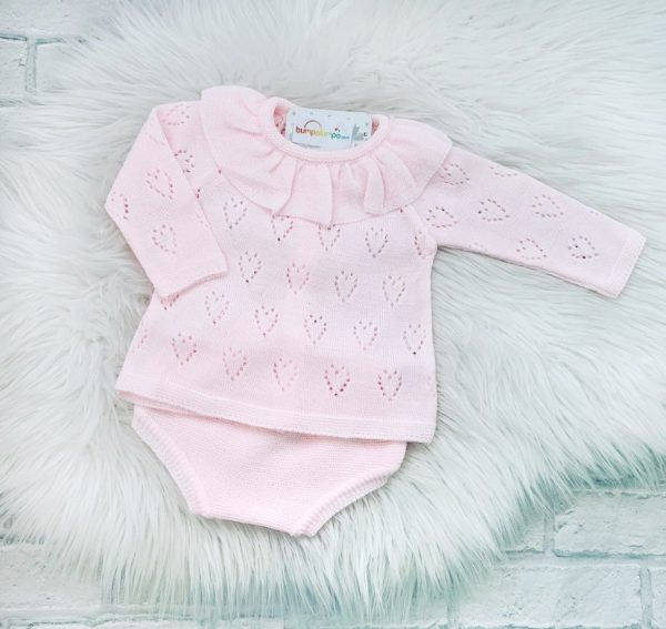 Baby Girls Pink Frill Top & Shorts Set