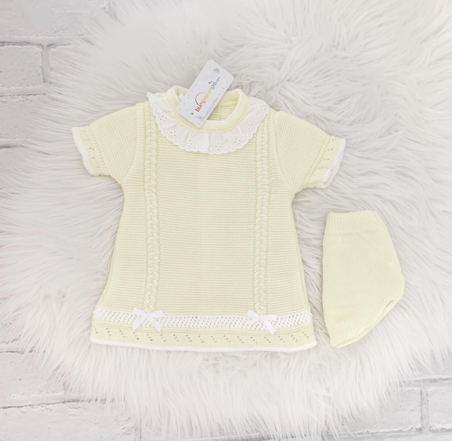 Baby Girls Lemon Dress & Knickers