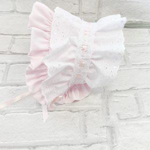 Pink Baby Girls Bonnet