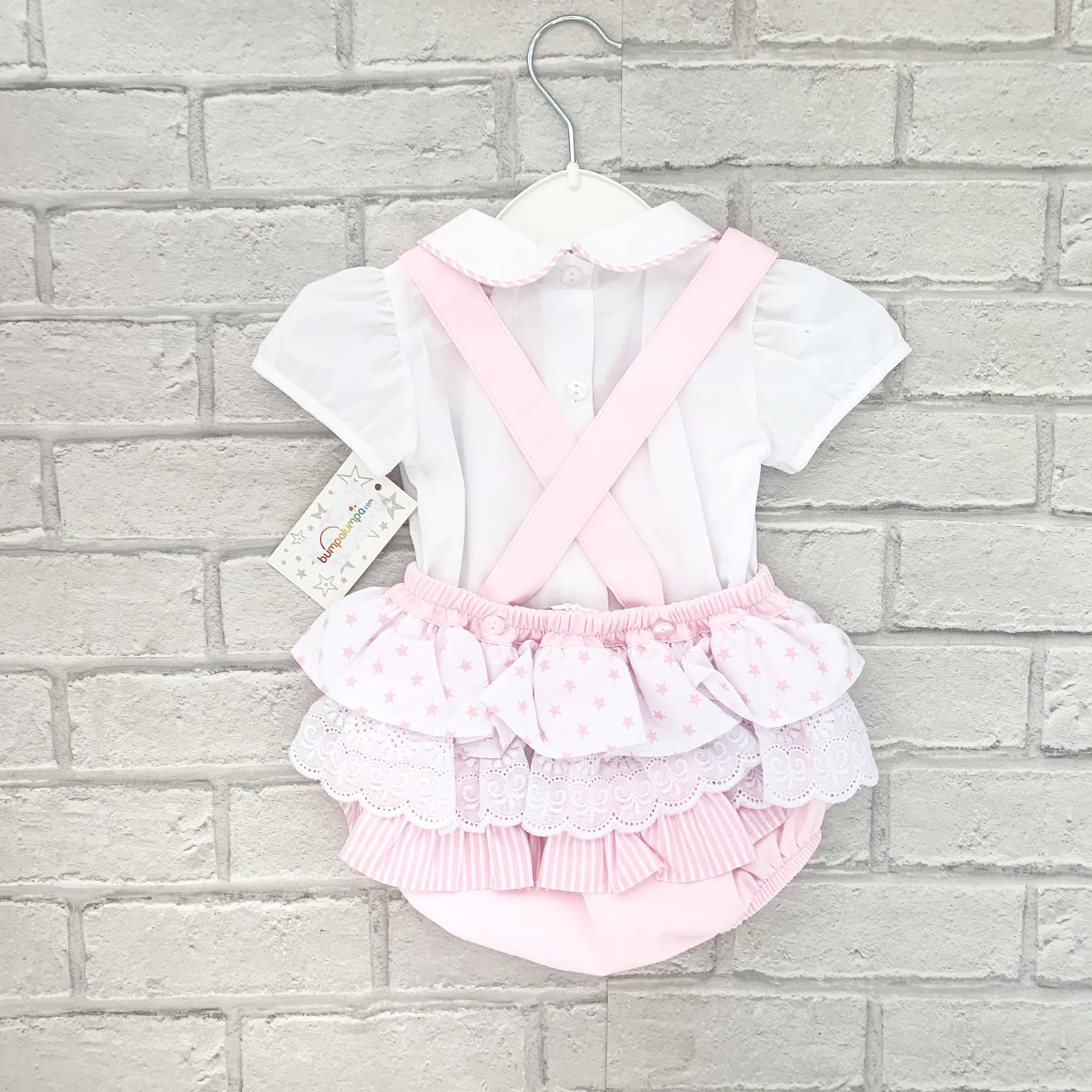 dfde0876ba5e Pink Baby Girls Dungaree Set