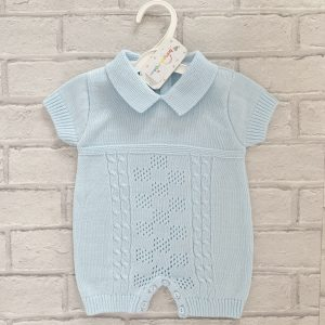 Blue Baby Boys Romper Suit