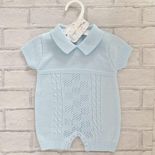 Blue Baby Boys Romper Suit