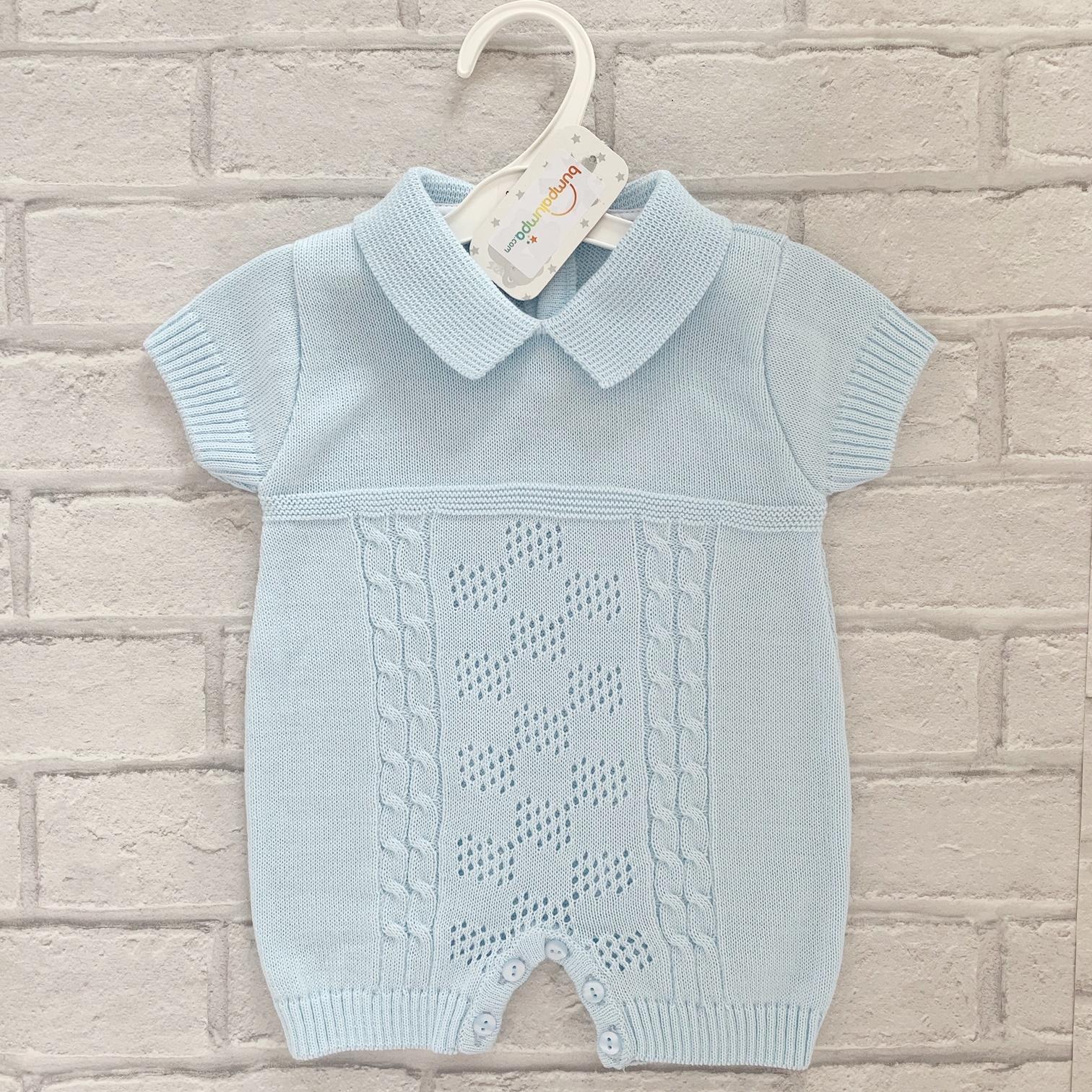 36df9b98 Blue Baby Boys Romper Suit