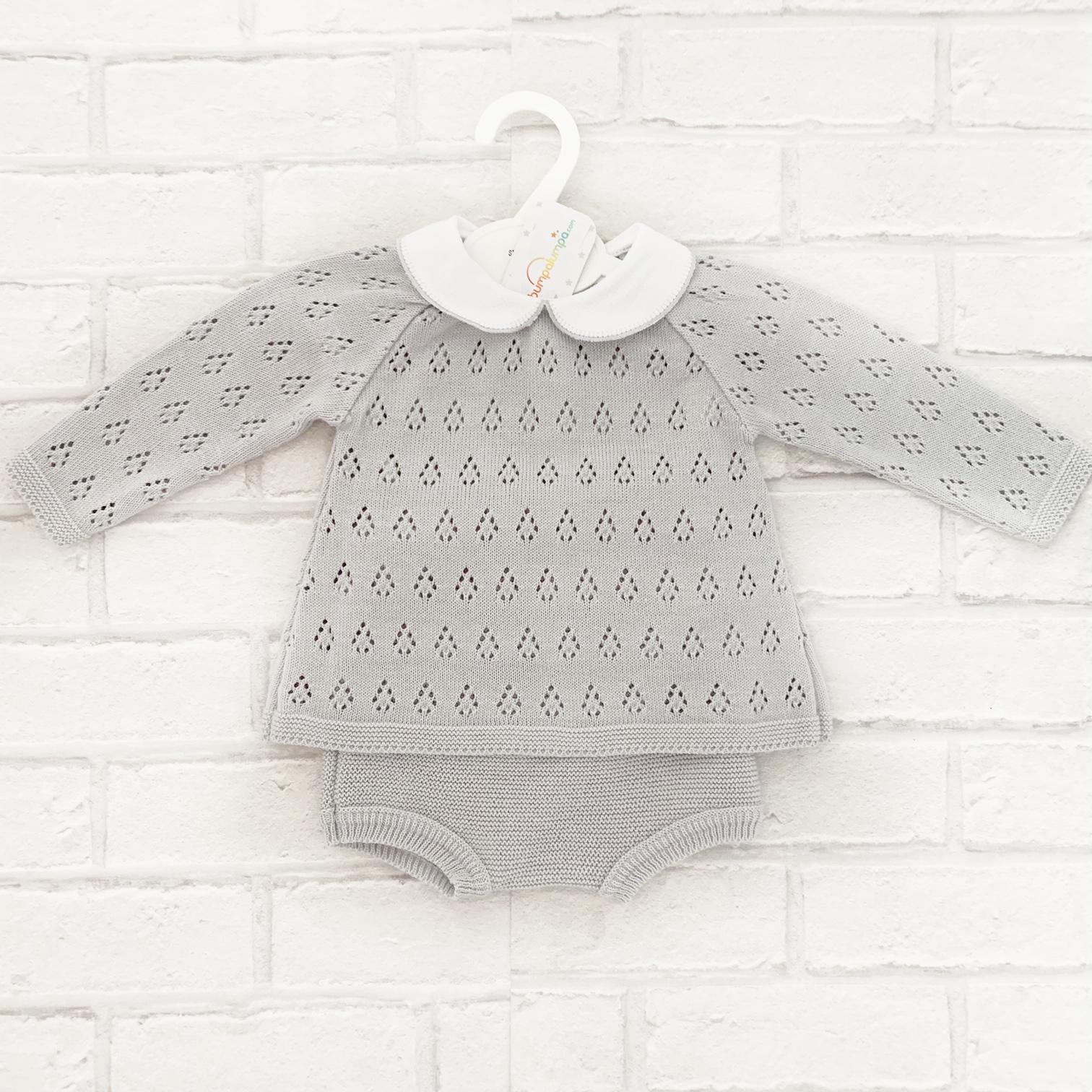 Baby Boys Light Grey top & Shorts Set