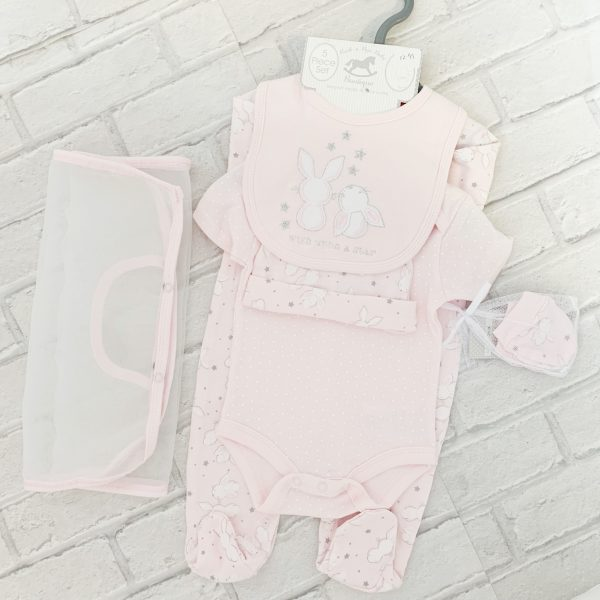 Baby Girls Pink Babygrow Set