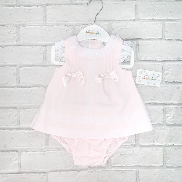 Baby Girls Pink Sleeveless Dress & Knickers