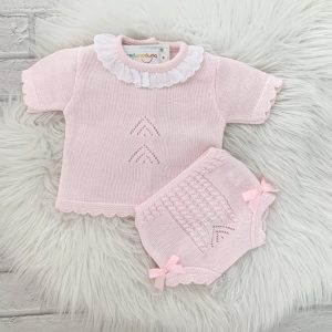 Baby Girls Pink Short Sleeve Top & Shorts Set