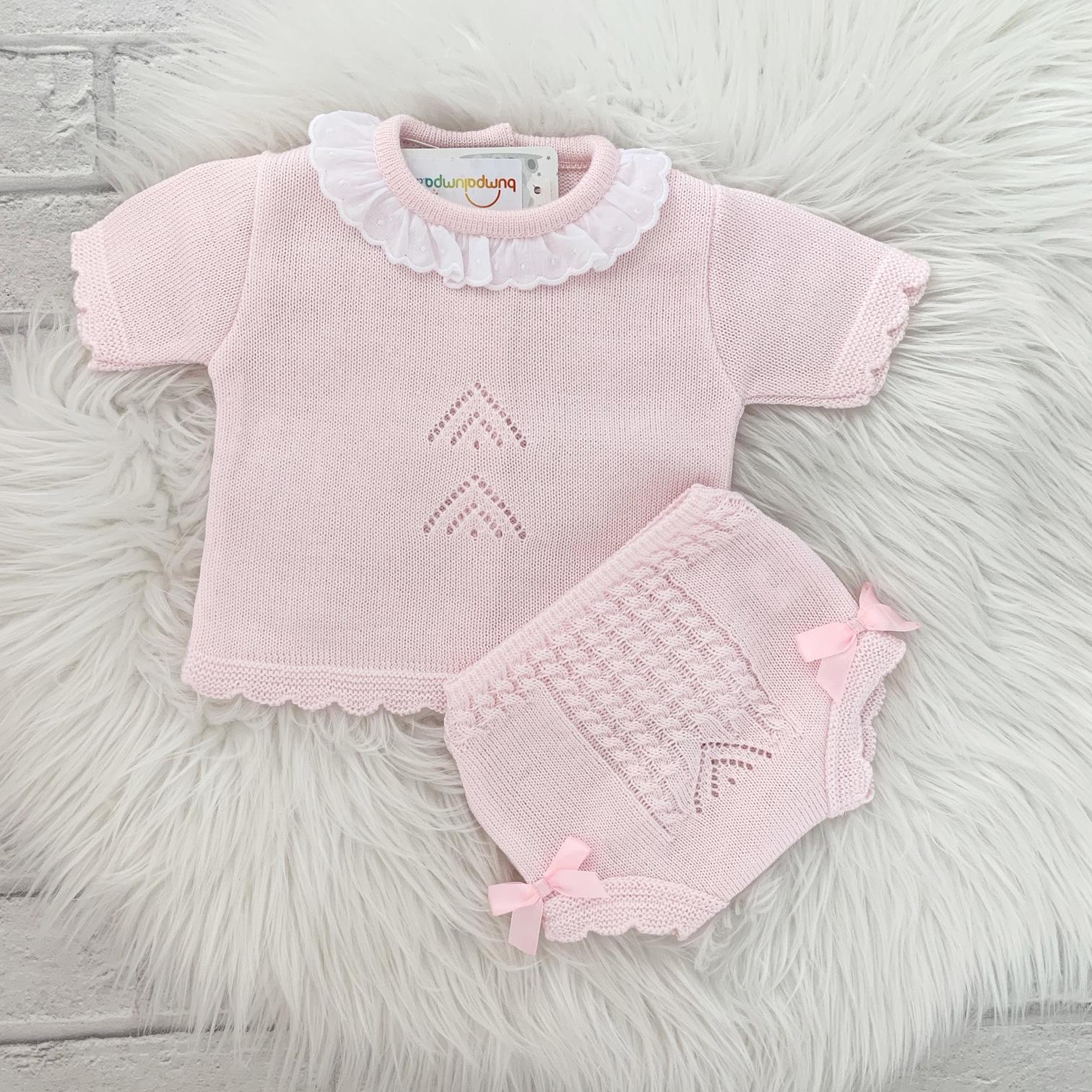 Baby Girls Pink Short Sleeve Top & Shorts Set