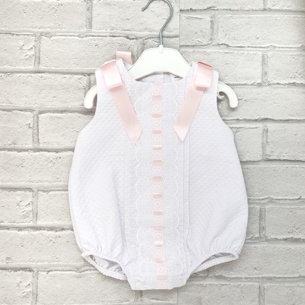 Baby Girls White Romper Suit