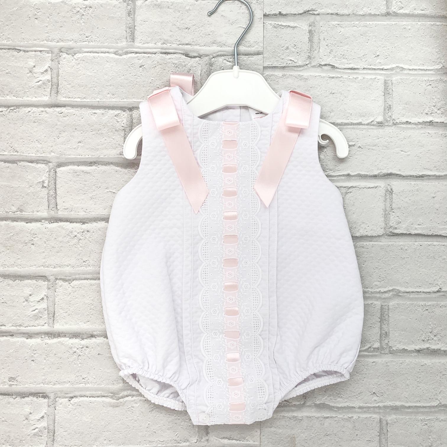 Baby Girls White Romper Suit