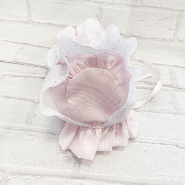 Pink Baby Girls Bonnet
