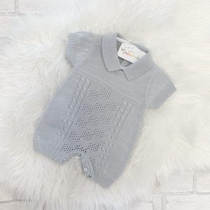 Grey Baby Romper Suit