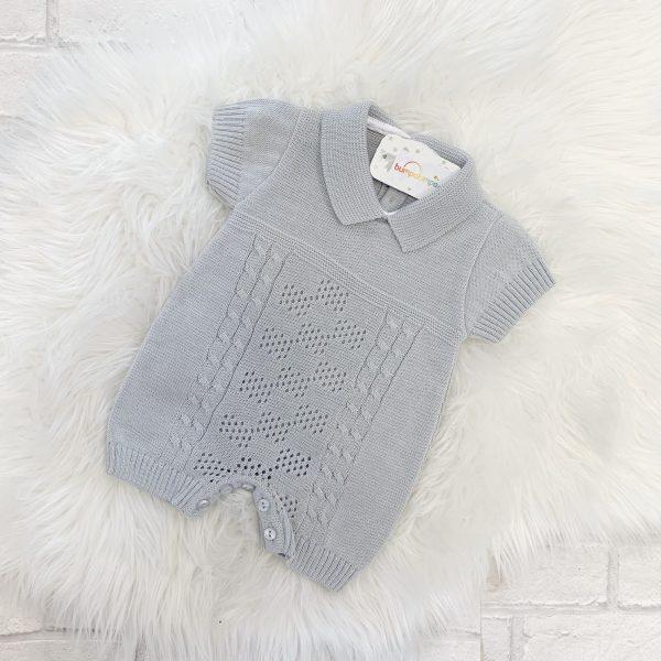 Grey Baby Romper Suit