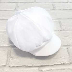 White Baby Boys Sun Hat