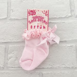 Baby Girls Pink Ankle Socks