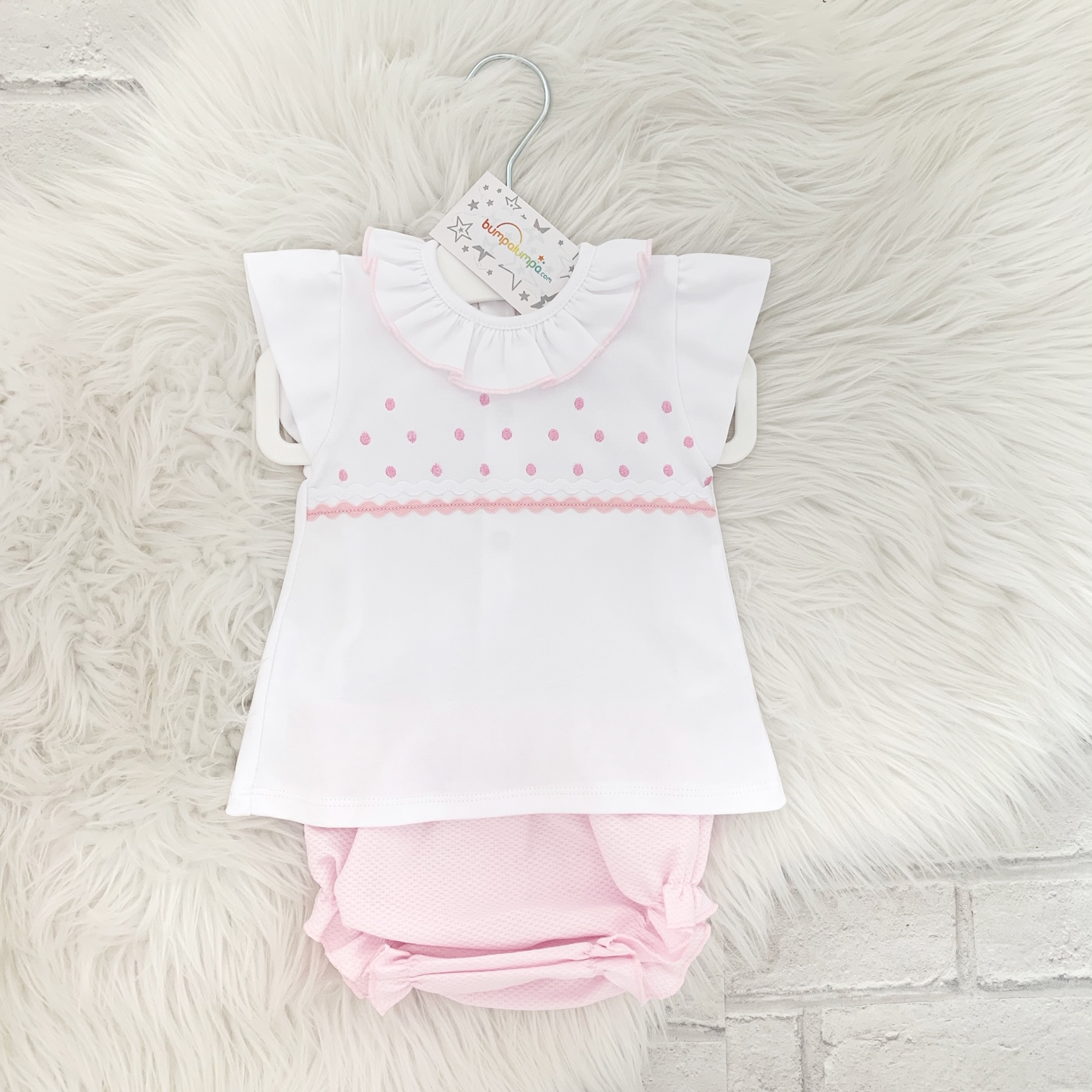 9454553ab Baby Girls White Top & Shorts Set | Bumpalumpa.com