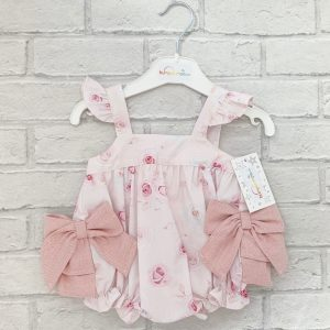 Pink Baby Girls Summer Romper Suit
