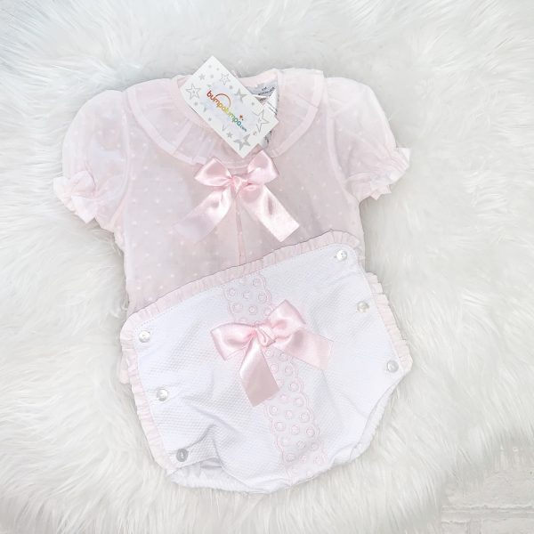 Baby Girls Pink & White Outfit